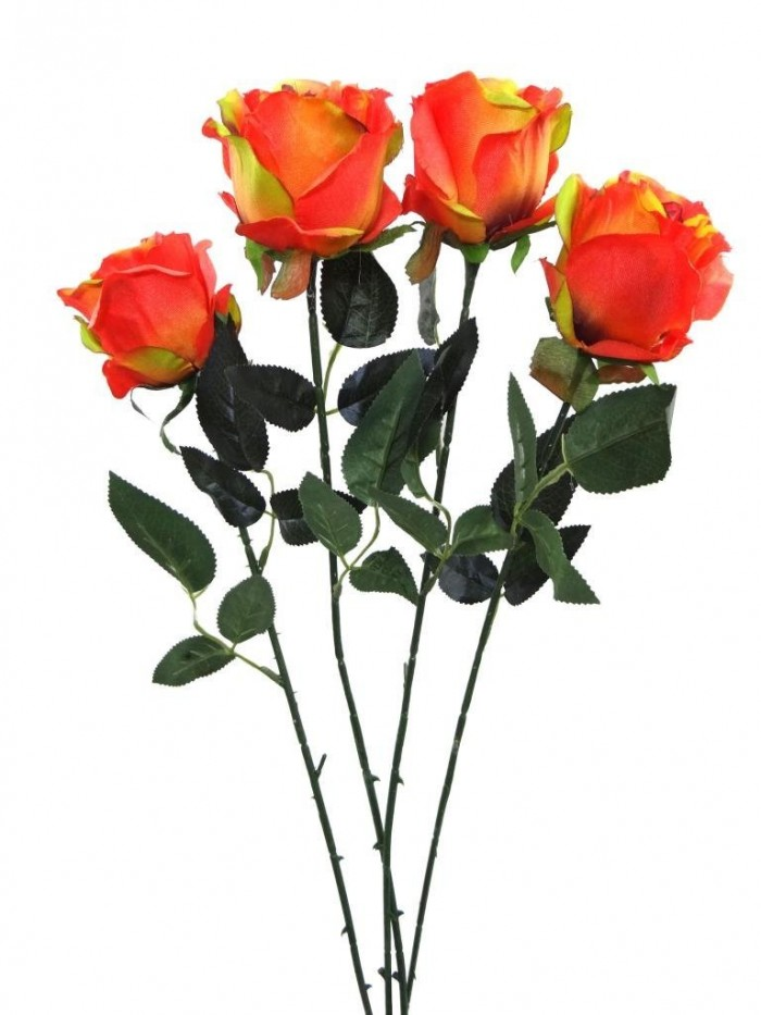 Buy Synthetic Single Open Rose(Orange) Online