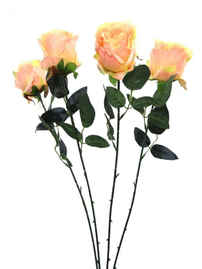 Buy Synthetic Single Open Rose(peach) Online