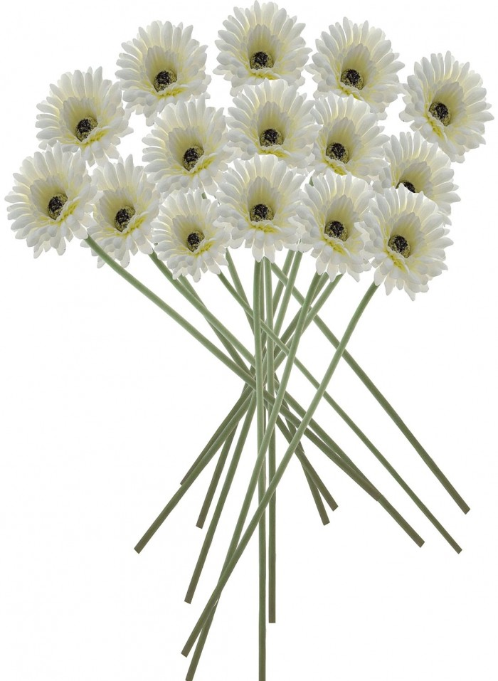 Buy Artificial Gerbera Flower(White) Online