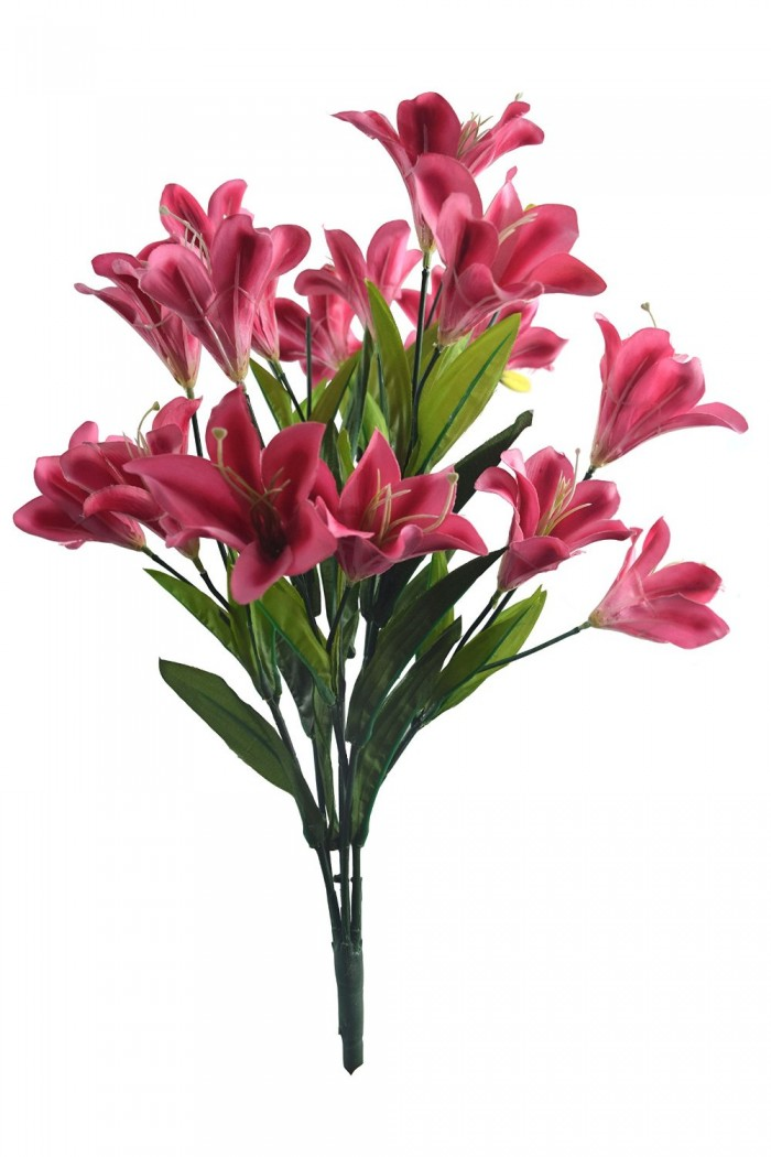 Buy Beautiful Artificial Lily Bunch (60 Cm, Pink) Online