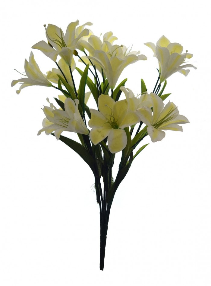 Buy Artificial Decorative Lily Flower Bunches (21 Flower, 60 Cm Tall, Dark/Pink) Online