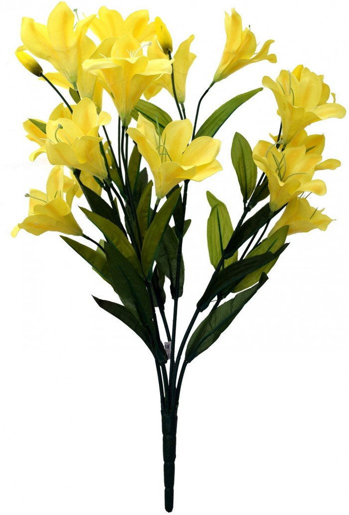 Buy Beautiful Artificial Lily Bunch (60 Cm, Yellow) Online