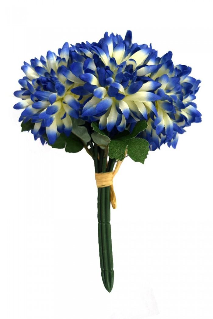 Buy Artificial Chrysanthemum Flower Bunch (Blue) Online