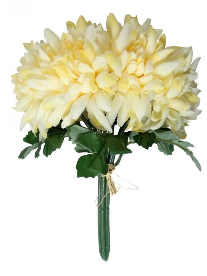 Buy Artificial Chrysanthemum Flower Bunch (cream) Online