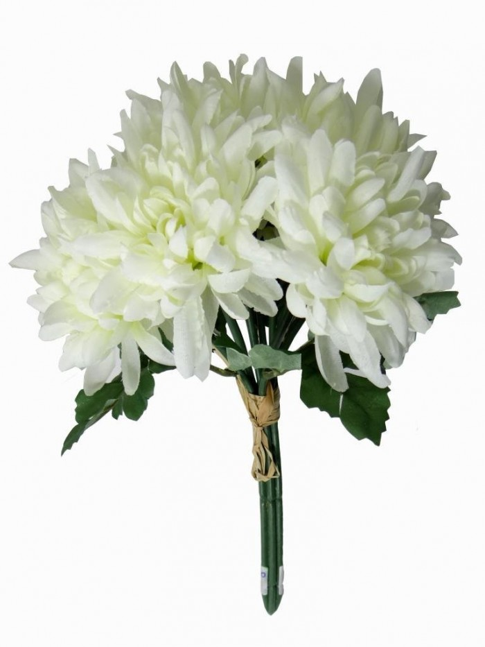 Buy Artificial Chrysanthemum Flower Bunch (white) Online