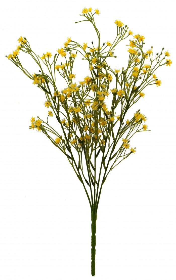 Buy Synthetic Gypso Flower (Set Of 1,Yellow) Online