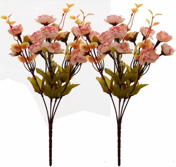 Buy Artificial Rose Flower Bunch (Set Of 2,Light Pink) Online