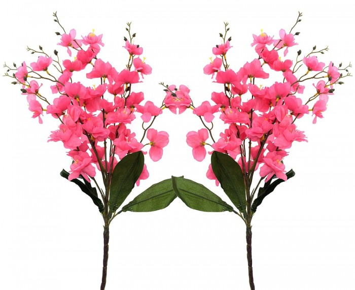 Buy Synthetic Feiyancao Flower Bunch-S2 (7 Branches,dark Pink) Online