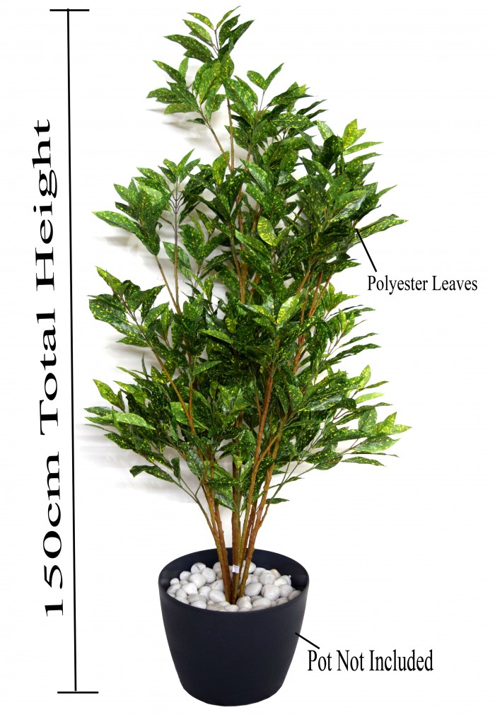 Buy 150 Cm Tall Decorative Artificial Croton Plant Without Pot Online