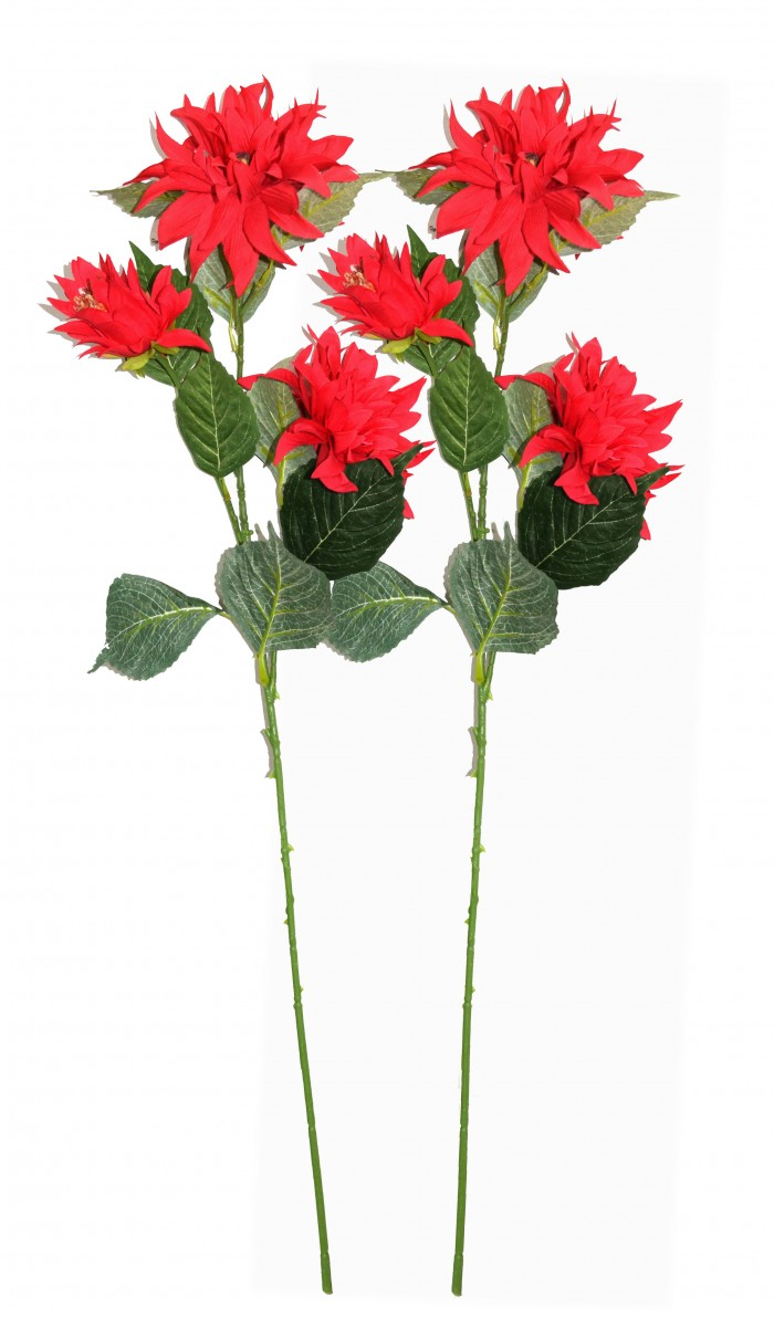 Fourwalls Artificial  3 HD FLOWER  (Set of 2,)