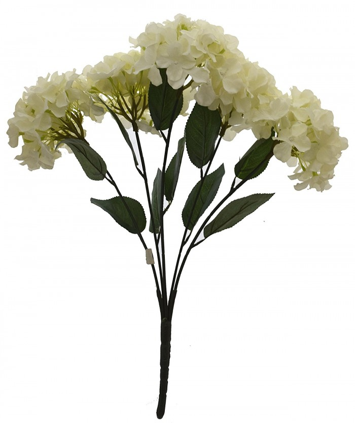 Buy Fourwalls Beautiful Artificial Hydrangea Bunch (White) Online