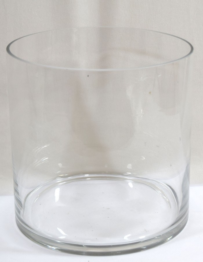 Buy Fourwalls Cylindrical Glass Vase(transparent) Online