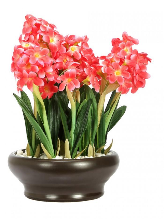 Buy Artificial Hyacinth Bonsai Plant With Pot (26 Cm ) Online
