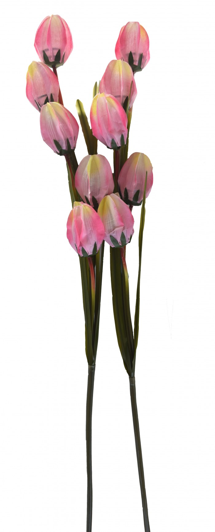 Buy Fourwalls Artificial Synthetic Tulip Flower Stick-S2 (5 Flowers,L/Pink) Online