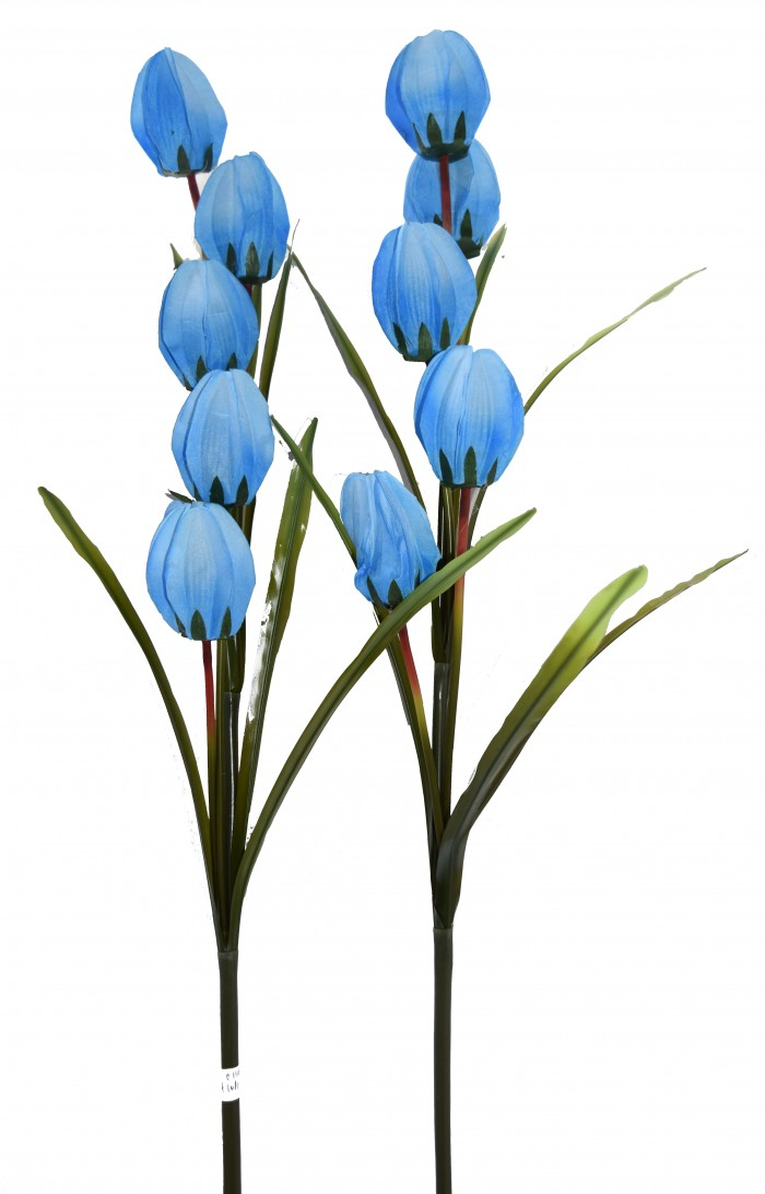 Buy Fourwalls Artificial Synthetic Tulip Flower Stick-S2 (5 Flowers,Bule) Online