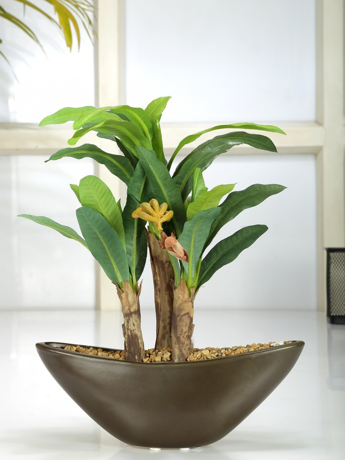 artificial BANANA bonces plant wath pot (28 cm)