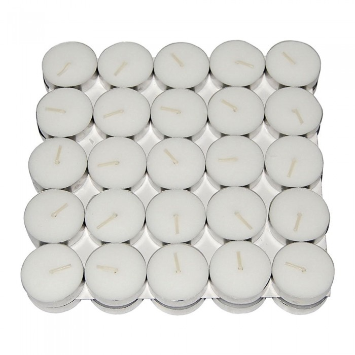 Buy Fourwalls Unscented Tealight Candles (Set Of 100, White) Online