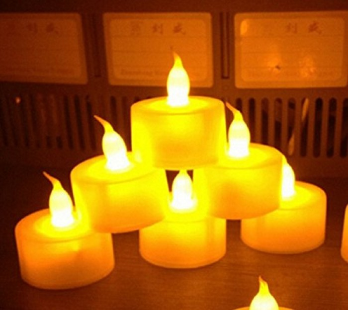 Buy Fourwalls LED Tea Light Candles - Yellow (Box Of 12) Online