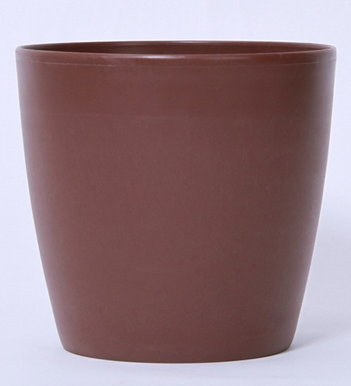 Buy Fourwalls PVC Planter (20 Cm, Brown, Set Of 2) Online