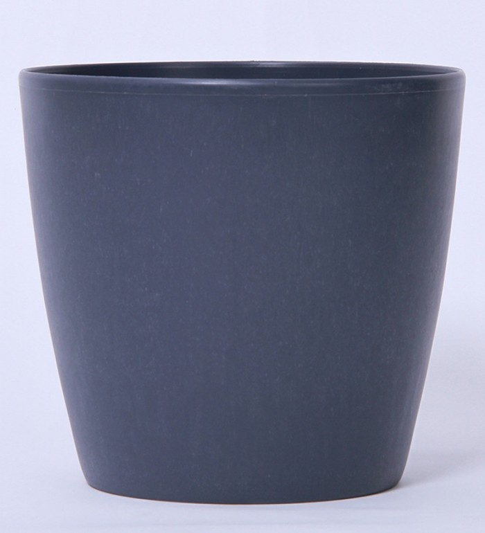 Buy Fourwalls PVC Planter (20 Cm, Grey, Set Of 2) Online