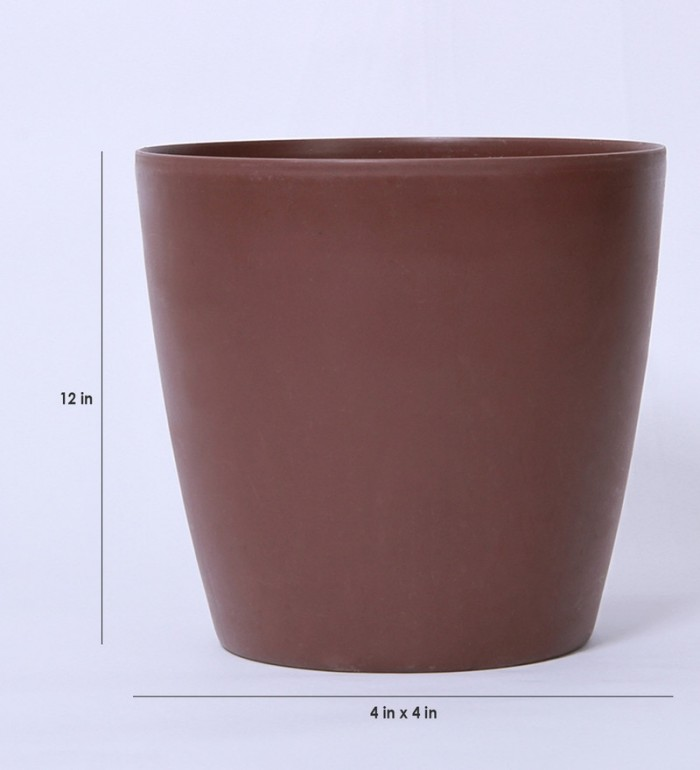 Buy Fourwalls PVC Planter (28 Cm, Brown) Online
