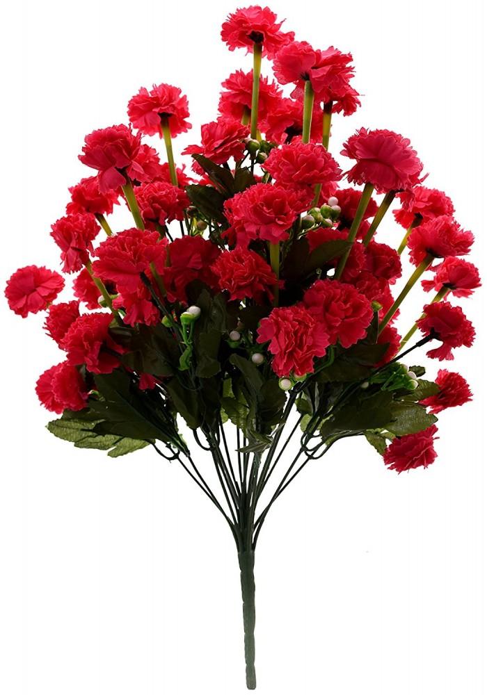 Buy Fourwalls Artificial Marigold Flower Bunch (54 Flowers,dkpink) Online