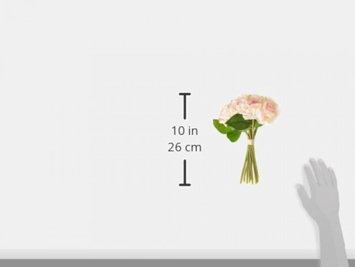 Buy Fourwalls Artificial Polyester And Plastic Rose Bouquet (13 Cm X 10 Cm X 26 Cm,Light/Pink ) Onli