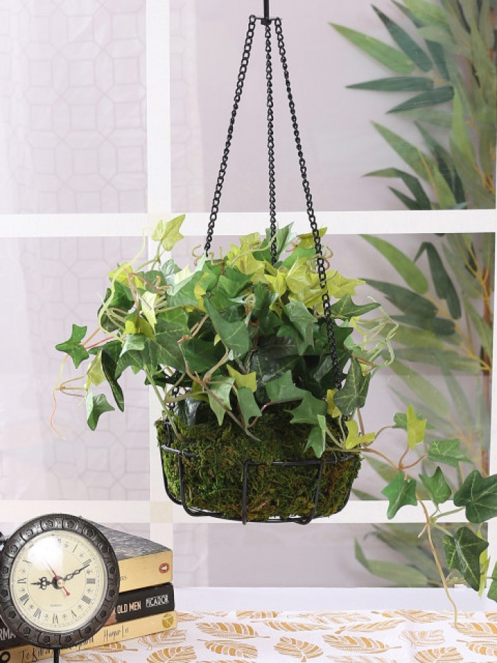 Buy 40 Cm Tall Ivy Hanging Basket Decorative Artificial Plant Online