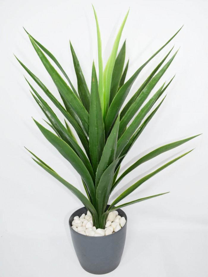 Buy Fourwalls Decorative Artificial Polyurethane Yucca Plant Without Pot (10 Cm X 10 Cm X 75 Cm, Gre