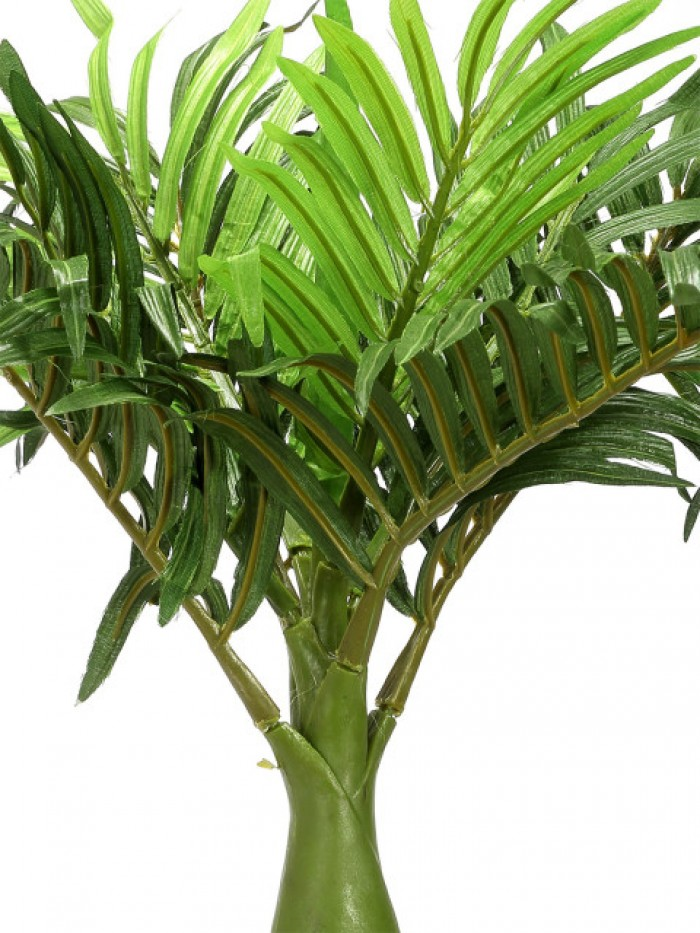 Buy Fourwalls Artificial  Synthetic Artificial Bonsai Palm Plant (8 Branches, Green, 35 Cm ) Online