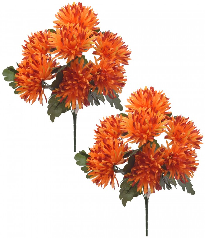 Buy Fourwalls Artificial Chrysanthemum Flower Bouquet (36 Cm, Sunred) Online