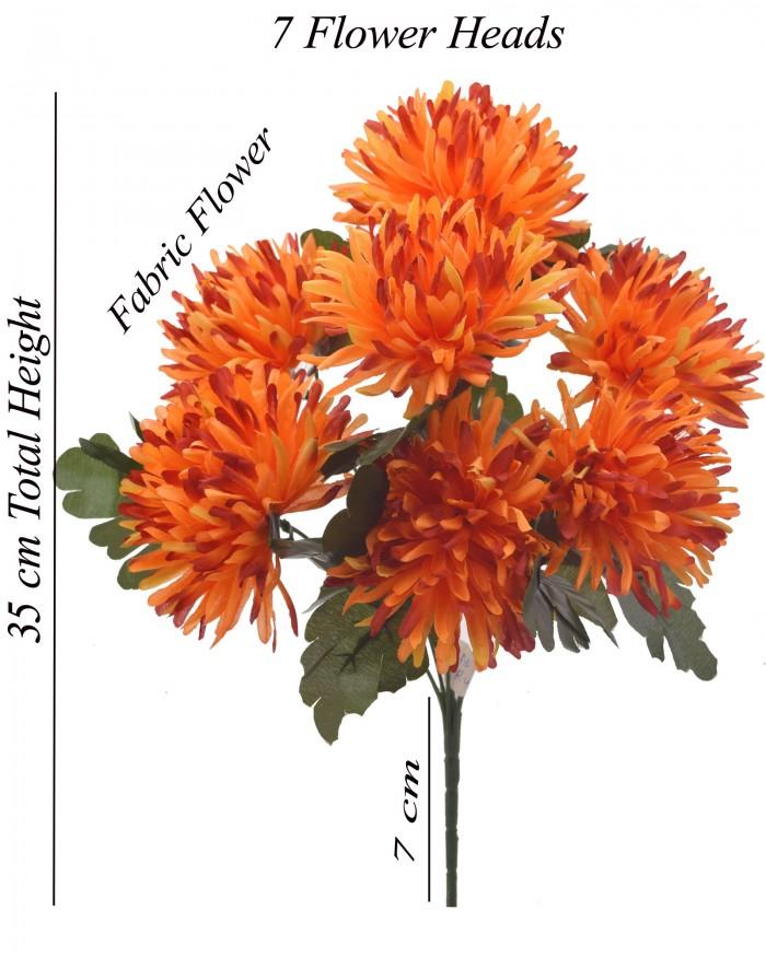 Buy Fourwalls Artificial Chrysanthemum Flower Bouquet (36 Cm, Sunred) Online