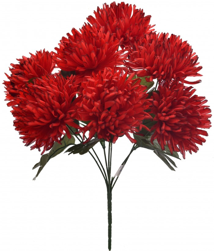 Buy Fourwalls Artificial Chrysanthemum Flower Bouquet (36 Cm, Red) Online