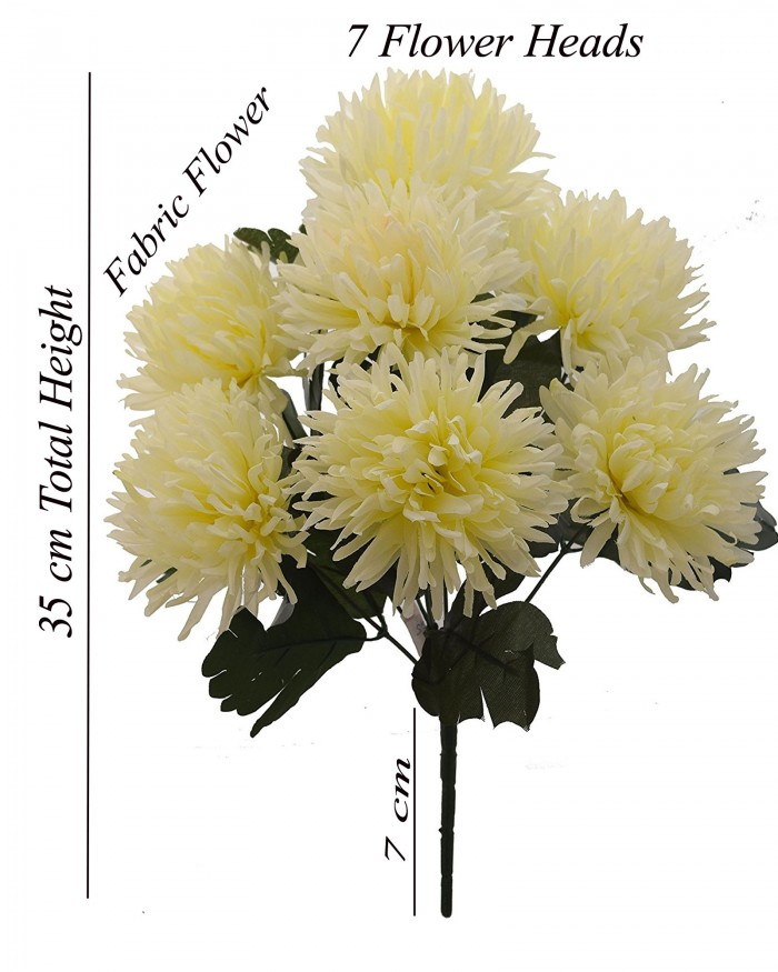 Buy Fourwalls Artificial Chrysanthemum Flower Bouquet (36 Cm, White) Online