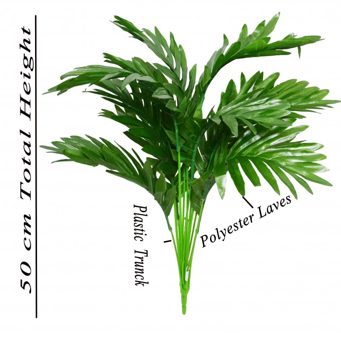 Buy Fourwalls 40 Cm Tall Artificial Areca Plant With 12 Leaves Online