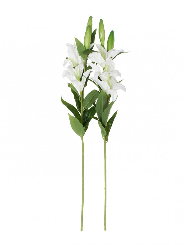 Buy Fourwalls Elegant Artificial Lily (3 Heads, White) Online