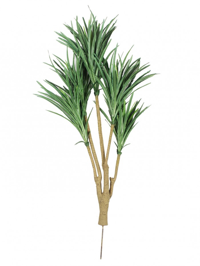 Buy Fourwalls Artificial Yucca Plant Without Pot (92 Cm Tall, 5 Branches, Green) Online
