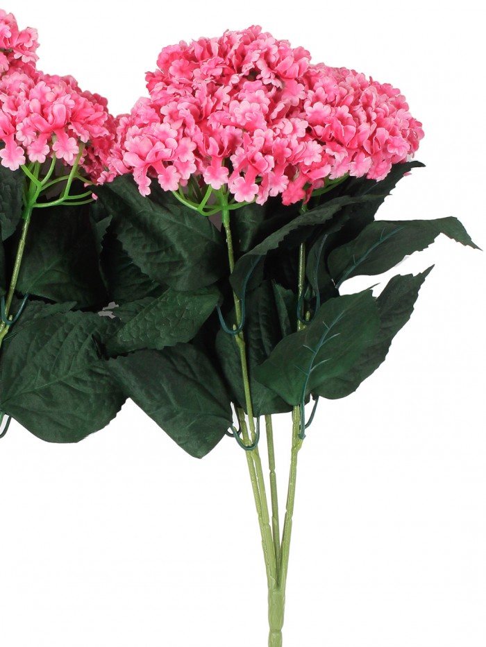 Buy Fourwalls Artificial Hydrangea Bouquet For Home, Events And Wedding Decor (48 Cm, Pink, Set Of 2