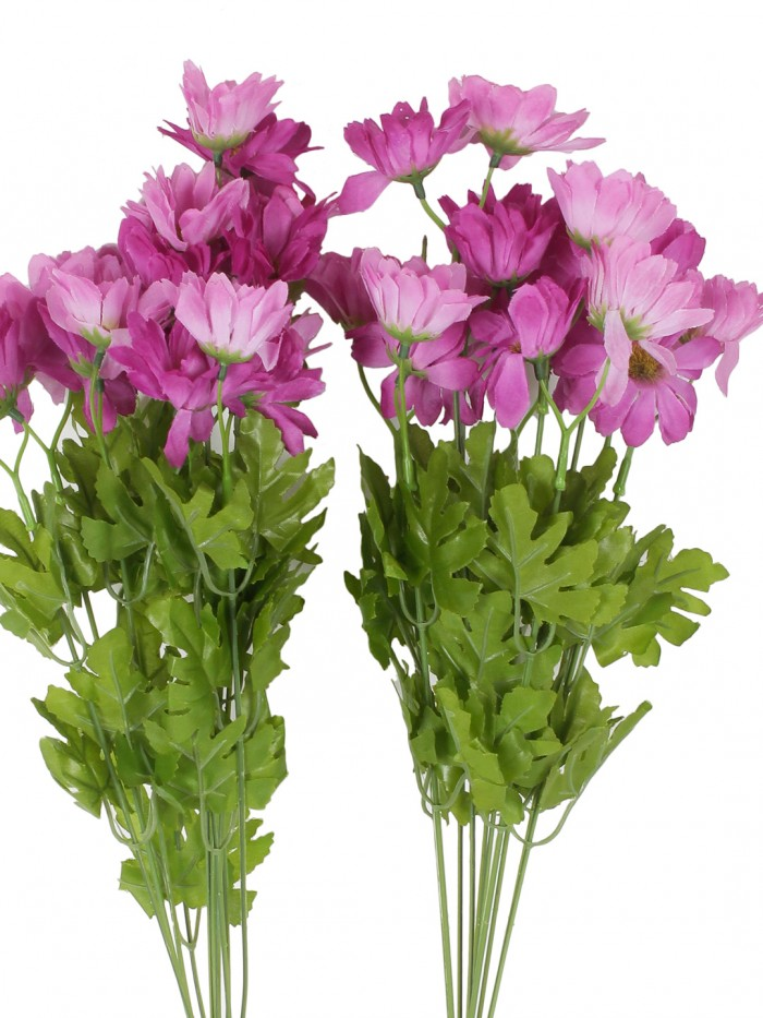Buy Artificial Daisy Bunches (48 Cm Tall, 10 Branches, Purple, Set Of 2) Online