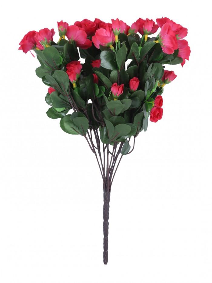 Buy  Fourwalls Artificial Synthetic Azalea Flower Bunch (11 Branches, Light Pink, 46 Cm) Online