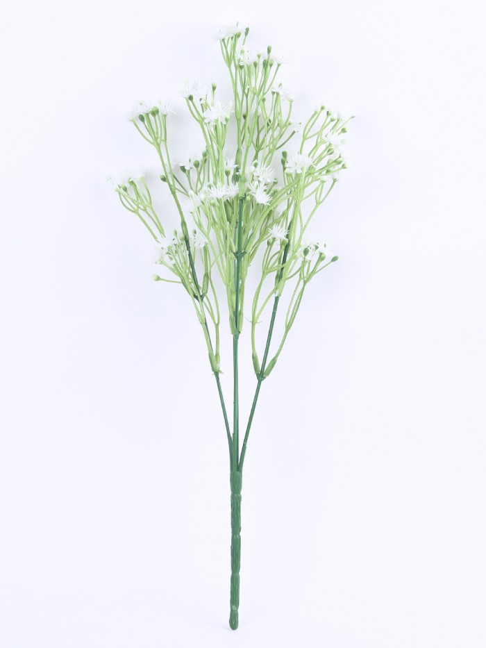 Buy Decorative Artificial Gypsophila Flower Bunches (35 Cm Tall, White, Set Of 4) Online
