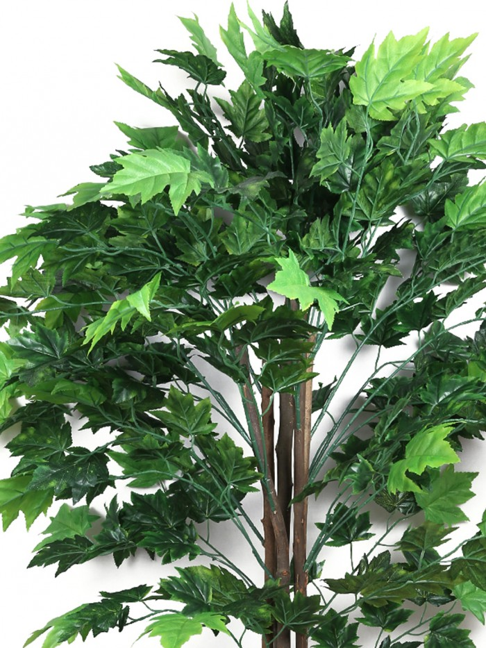 Buy Decorative Artificial Japanese Maple Floor Plant Without Pot (170 Cm Tall, 620 Leaves, Green) On