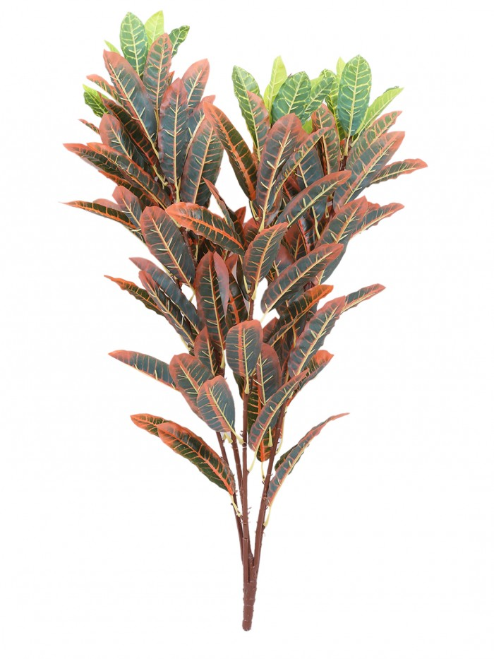 Buy Decorative Artificial Croton Floor Plant Without Pot (86 Cm Tall, Red) Online