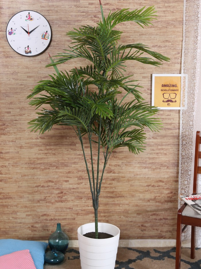 Buy Decorative Artificial Arica Floor Plant Without Pot (165 Cm Tall, Green) Online