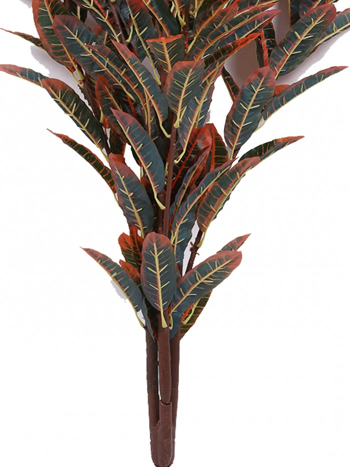 Buy Decorative Artificial Croton Floor Plant Without Pot (100 Cm Tall, Red) Online