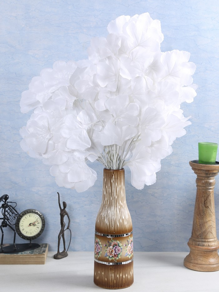 Buy Artificial Polyester And Plastic Maple Stem (60 Cm, White, Set Of 8) Online