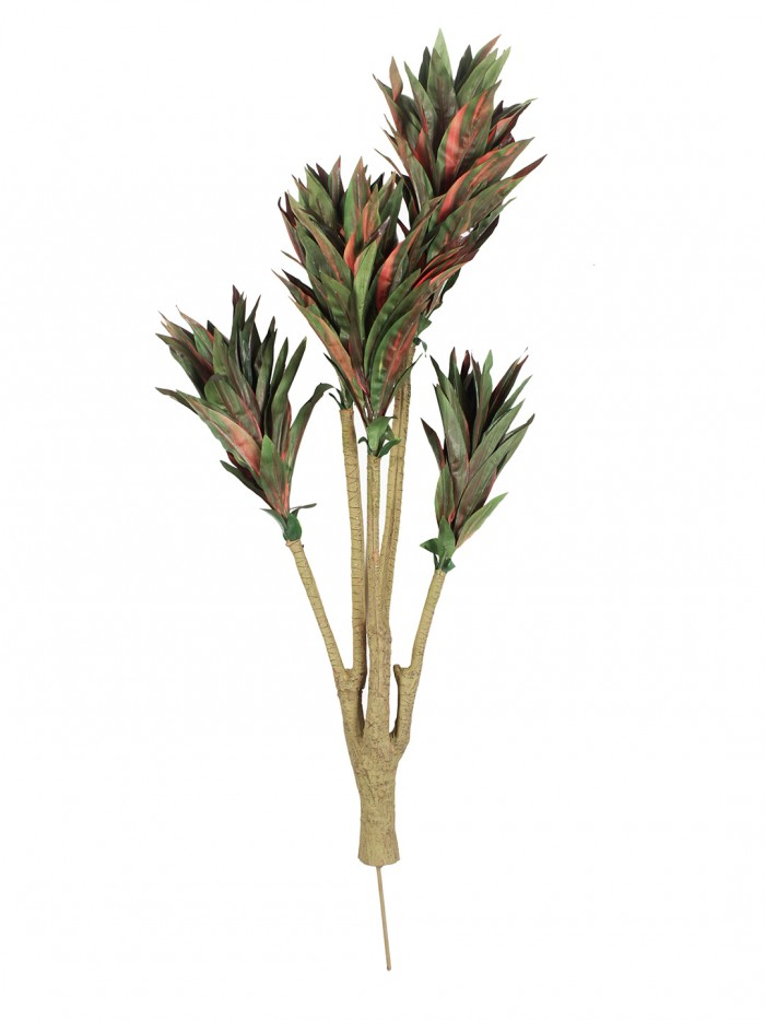 Buy 86cm Tall Decorative Artificial Dracaena Plant Without Pot (171 Leaves, Red And Green) Online
