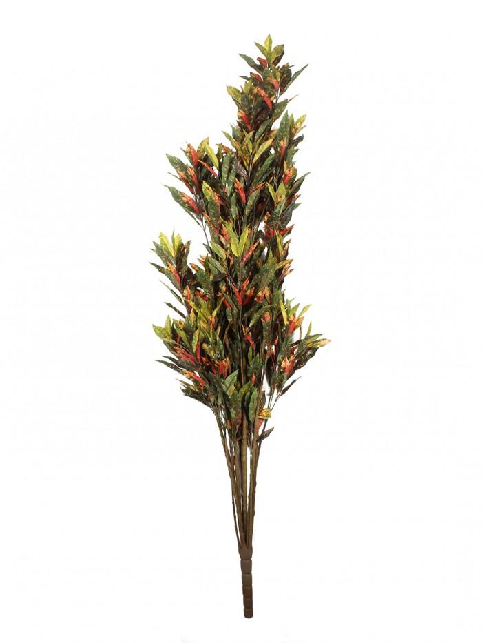Buy Artificial Croton PlantMulticolor Polyester 760 Leaves Artificial Croton Floor Plant By Fourwall