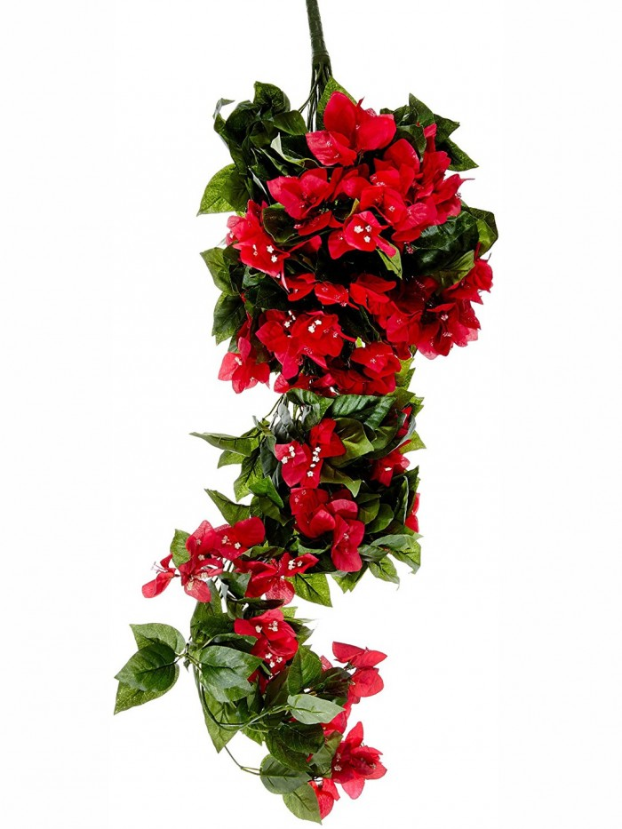 Buy Artificial Bougainvillea Bush For Wedding Or Home Decoration - Dark/Pink, 42 Inches/105 Cm Tall