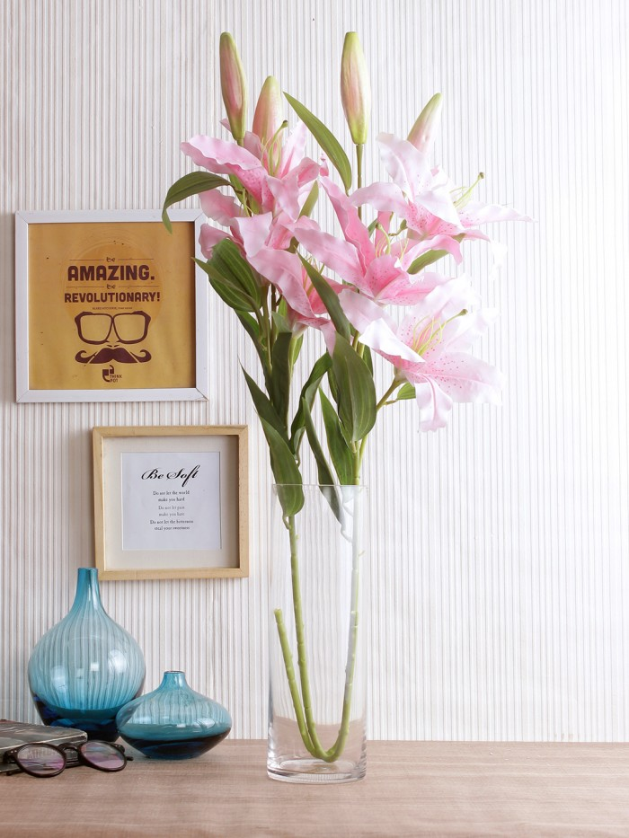 Buy Fourwalls Artificial Fourwalls Single LILY X 3  (Set Of 2,) Online